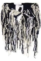 Oscar De La Renta Fringed Wool Silk And Cashmere Blend Snood