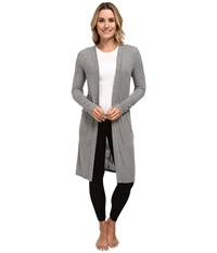 P.J. Salvage Essential Luxe Rib Cardig Robe Heather Grey Women's Robe Gray