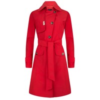 Piogg All Weather Fashion Coats Red Waterproof Trenchcoat Red Blue Nude