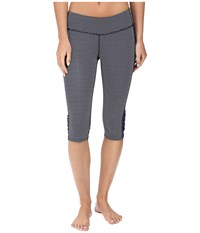 Carve Designs Hampton Capris Anchor Chevron Women's Capri Gray