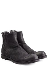 Officine Creative Suede Ankle Boots Black