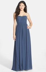 Women's Jenny Yoo 'Aidan' Convertible Strapless Chiffon Gown Evening Blue