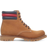 Gucci Marland Leather Boots Tan
