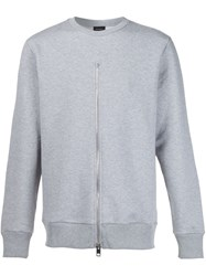 Diesel Zip Detail Sweatshirt Grey