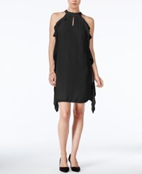 Bar Iii Flutter Detail Shift Dress Only At Macy's Deep Black