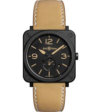 Bell And Ross Brs Heritage Aviation Ceramic And Leather Watch