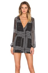 Bcbgeneration Long Sleeve Romper Black