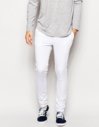 Asos Extreme Super Skinny Trousers White