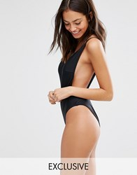 South Beach Low Back Swimsuit Black