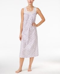 Charter Club Lace Trim Long Nightgown Only At Macy's Ivory Floral Vines