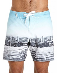 Bench Beachley Print Swim Trunks White
