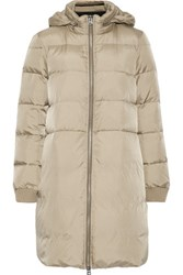 Maison Martin Margiela Mm6 Quilted Shell Down Coat Taupe