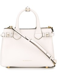 Burberry 'The Banner' Tote White
