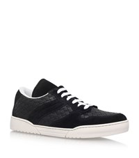 Bottega Veneta Naismih Leather Velcro Sneakers Male Black