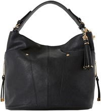Dune Dacey Faux Leather Hobo Bag Black Plain Synthetic