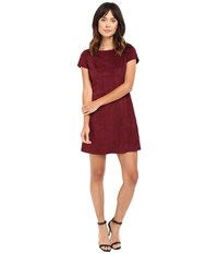 Jessica Simpson Faux Suede T Shirt Dress Winetasting Women's Dress Burgundy