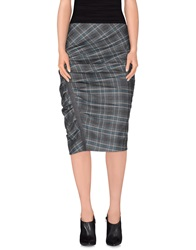 Gunex Knee Length Skirts Grey