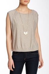 Inhabit Crew Neck Cap Sleeve Tee