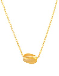 Lord And Taylor Gold Sculpted Pendant Necklace