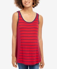 Motherhood Maternity Striped Tank Top Red Navy