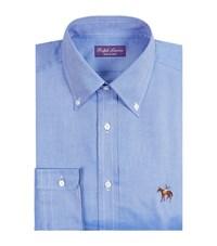 Ralph Lauren Standing Horse Oxford Shirt Male Blue