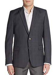 Versace Regular Fit Micro Plaid Sportcoat Blue