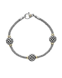 Lagos 10Mm Caviar Ball Station Bracelet Silver Gold