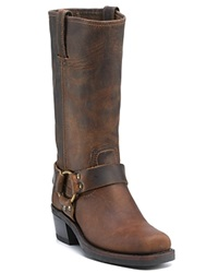 Frye Women's Harness 12R Leather Riding Boots Tan Crazy Horse