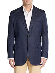 Robert Graham Classic Fit Campbell Herringbone Sportcoat Navy