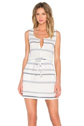 Michael Stars Scoop Neck Drawstring Dress White