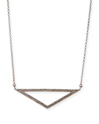 Open Triangle Diamond Pendant Necklace Siena Jewelry