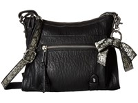Jessica Simpson Tatiana Crossbody Black Grey Snake Cross Body Handbags