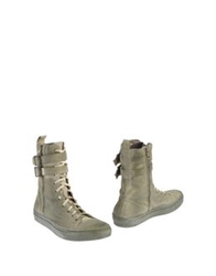 Brian Dales Ankle Boots Light Green