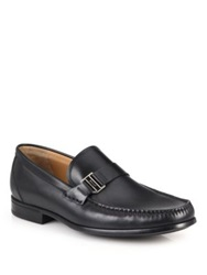 Bally Side Bit Leather Loafers Chestnut Black
