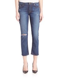 Hudson Fallon Distressed Cropped Jeans Offshore