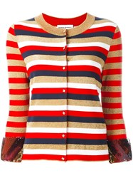 Sonia Rykiel Buttoned Cardigan Red