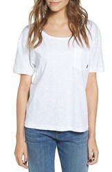 Obey Women's Rosario Scoop Neck Tee Dusty Off White