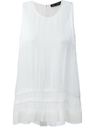 Proenza Schouler Embroidered Tank Top White