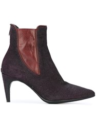 Officine Creative 'Rivette' Ankle Boots Pink And Purple