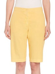 Peserico Stretch Cotton And Wool Bermuda Shorts Sand Blue