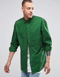 Weekday Blood Regular Fit Shirt 2 Pocket In Green Green 96 304