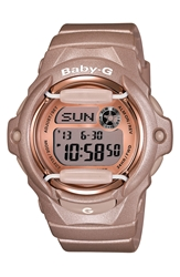 Baby G Pink Dial Digital Watch 46Mm X 42Mm Champagne Pink