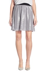 Chelsea 28 Flouncy Metallic Skirt Gray