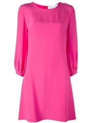 Gianluca Capannolo Mid Length Shift Dress Pink And Purple