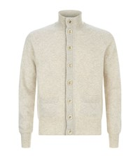 Tom Ford Wool Button Up Cardigan Male Beige