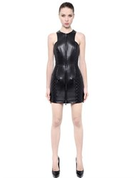 Balmain Quilted Nappa Leather Dress