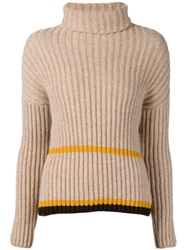 Dusan Open Back Knit Sweater Brown