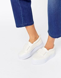 Asos Darcy Flatform Trainers White