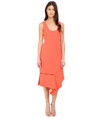 Prabal Gurung Crepe Asymmetrical Hem Dress Vermillion