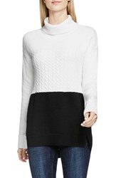 Vince Camuto Women's Two By Colorblock Turtleneck Rich Black